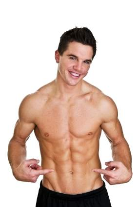 Man Pointing to abs